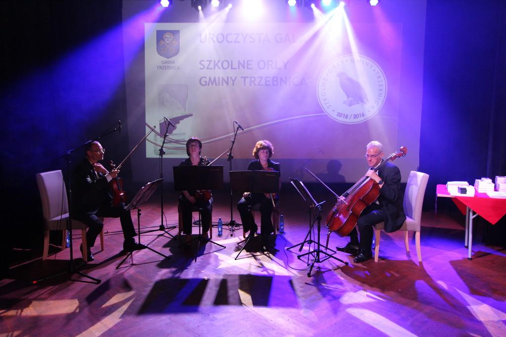 Oprawę muzyczna podczas uroczystości zapewnił Wrocławski Kwartet Smyczkowy CONTINUO.
