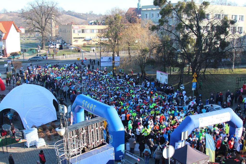 W tym roku start, meta oraz miasteczko zawodów ulokowane były na parkingu przed Urzędem Miejskim.