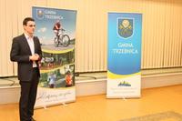 Naczelnik Wydziału Promocji Jakub Szurkawski opowiedział studentom o najmocniejszych stronach naszego miasta.