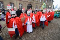 Orszak czerwony symbolizował królestwo Europy.