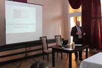 Podczas wystąpienia Burmistrz Marek Długozima przybliżył inwestycje powstałe na terenie Gminy Trzebnica, jak również podkreślił rolę i odpowiedzialność zawodu inżyniera.