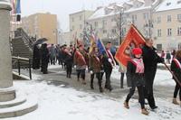 Wspólny przemarsz z trzebnickiego rynku na Rondo Żołnierzy Wyklętych.