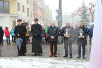 Modlitwę w intencji Niezłomnych poprowadził ks. Proboszcz Bogdan Grabowski.
