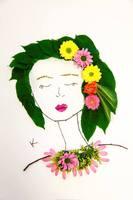 Podczas warsztatów powstały piękne, florystyczne portrety mam.