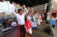 Występ taneczno-muzyczny zaprezentowali pielgrzymi z Meksyku.