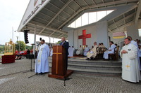 Burmistrz podziękował wszystkim za zaangażowanie w organizację i wspólnie spędzony czas oraz zachęcił pielgrzymów, aby w przyszłości powrócili do Trzebnicy, która zawsze z przyjemnością ich przyjmie.