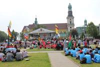 Trzebnica była ostatnim postojem pielgrzymów na drodze do spotkania z papieżem Franciszkiem w Krakowie.
