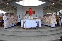 Uczestnicy ŚDM wzięli udział w wyjątkowej mszy św. koncelebrowanej przez arcybiskupa Józefa Kupnego. Towarzyszyli mu kapłani z różnych zakątków świata.