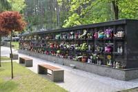 Przykładowe kulumbarium, jak zapewnia Burmistrz Marek Długozima podobne powstaną już wkrótce na cmentarzu komunalnym na ul. Spokojnej oraz cmentarzu parafialnym na ul. Prusickiej.