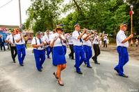 O muzyczną oprawę korowodu dożynkowego zadbała Trzebnicka Orkiestra Dęta.