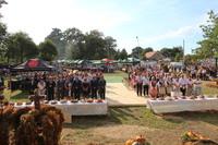 Uroczystości dożynkowe rozpoczęto mszą św. dziękczynną w intencji rolników z Gminy Trzebnica.