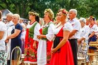 Przedstawicielki Brochocina z sołtys Barbarą Świdzińską na czele.