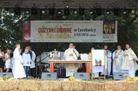 Mszę św. dziękczynną koncelebrował ks. dziekan Jerzy Olszówka SDS wraz z kapłanami.