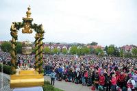 Do Międzynarodowego Sanktuarium św. Jadwigi w Trzebnicy przybyło kilkanaście tysięcy  pielgrzymów.