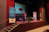 Dr Ewa Giza Opowiedziała m.in. o zorganizowanym przez Stowarzyszenie którym kieruje, Środowiskowym  Centrum Społeczno- Medycznym dla osób z zaburzeniami zdrowia psychicznego.