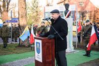 W imieniu wojewody dolnośląskiego Pawła Hreniaka głos zabrał Damian Mrozek - Doradca Wojewody ds. kontaktów z organizacjami pozarządowymi i kombatanckimi.