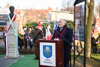 Burmistrza Marek Długozima- gospodarz uroczystości - przywitał zaproszonych gości i mieszkańców.