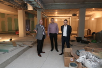 Na zdjęciu: burmistrz Marek Długozima,sekretarz Daniel Buczak oraz Stanisław Koszałko z Wydziału TI.