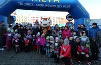 Pamiątkowe zdjęcie uczestników Biegu Dzieci i Młodzieży oraz Biegu Krasnala.