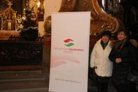 Miłym akcentem na otwarciu ekspozycji było wystąpienie pani Aleksandry Rzewuskiej, trzebniczanki, która ma węgierskie pochodzenie. Na zdjęciu z konsul generalną Węgier.