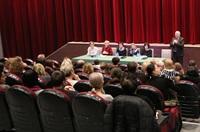 Spotkanie dyrektorów i burmistrza z rodzicami uczniów Szkoły Podstawowej nr 2.