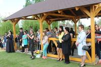 Jednym z nowo otwartych obiektów jest drewniana altana, która posłuży mieszkańcom do spotkań integracyjnych.