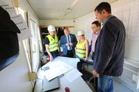 Narada techniczna z udziałem burmistrza i pracowników firmy Berger Bau.