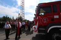 Po nabożeństwie przyszedł czas na poświęcenie nowego wozu ratowniczo-gaśniczego, który będzie służyć strażakom-ochotnikom ze Skoroszowa.