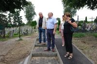 Galeria Cmentarz na ul. Prusickiej - pierwszy etap remontu ukończony