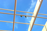Galeria Wiecha zawisła na budowie hali widowiskowo-sportowej