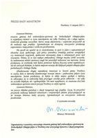 Galeria List Gratulacyjny od Premiera
