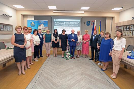 Uroczysta narada Dyrektorów szkół, przedszkoli i żłobka Gminy Trzebnica