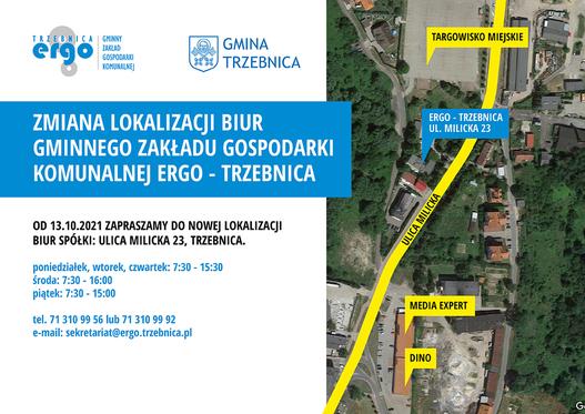 Gminny Zakład Gospodarki Komunalnej ERGO - Trzebnica - zmiana lokalizacji biur spółki